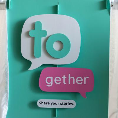 The TOgether interactive installation created by Humber Transmedia Fellowship