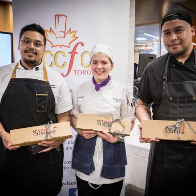 Humber Alumni chefs who led the students with the 4-course meal at the Humberlicious event