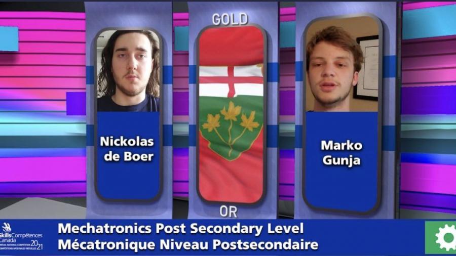 A screen grab of a presentation shows winners de Boer and Gunja`s headhots
