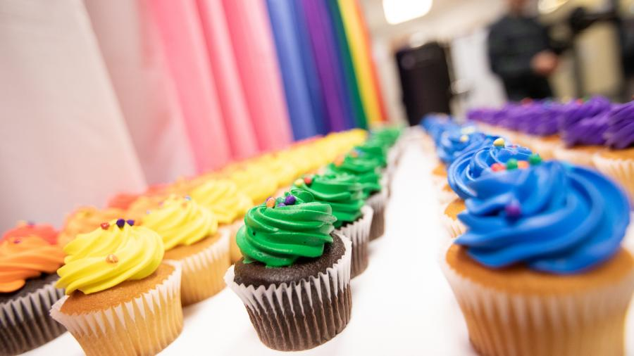 Pride cupcakes offered at the LGBTQ+ Resource Centre