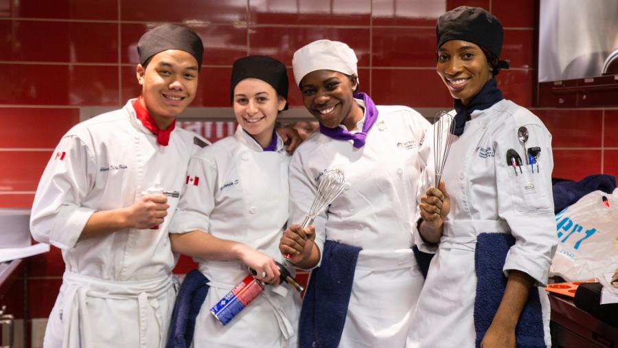 The winners of Humber College's Iron Chef competition