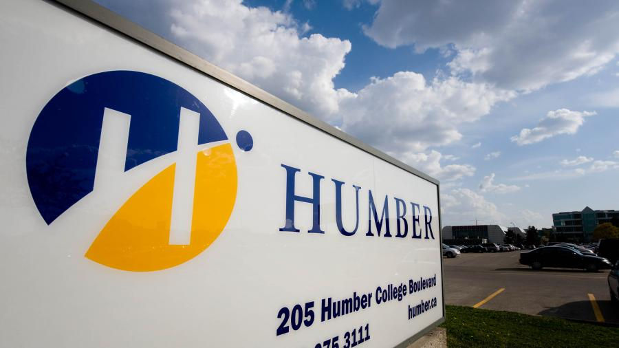 Humber College sign