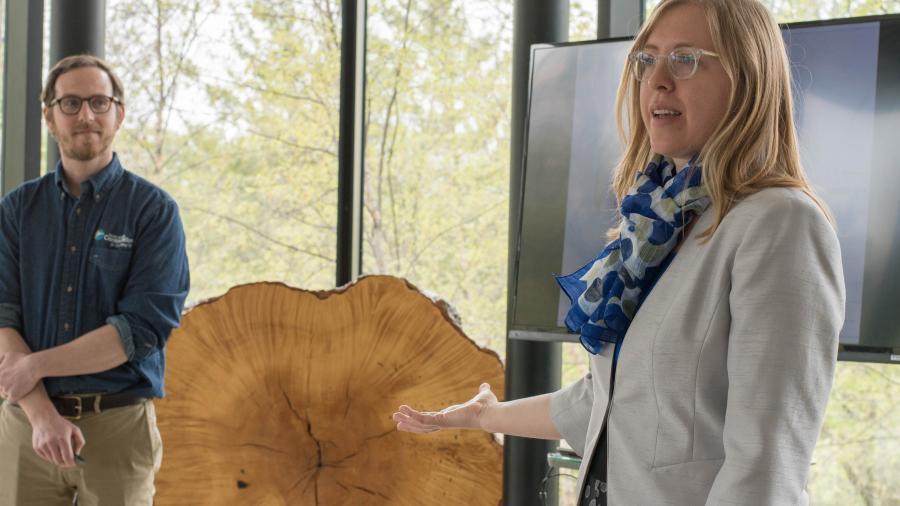 Alexandra Link, director of the Humber Arboretum and Centre for Urban Ecology, alongside Andrew Ramesbottom from the TRCA