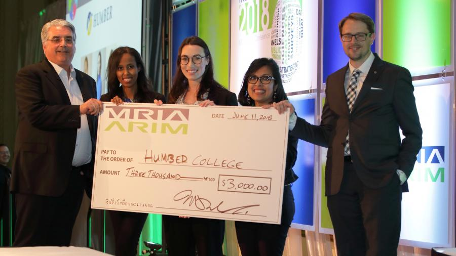 Winning Humber students at the MRIA competition