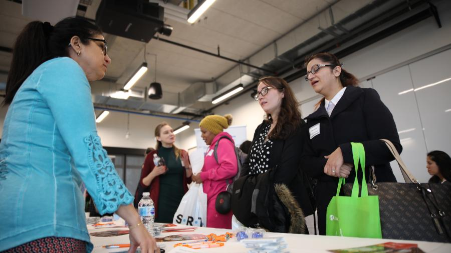 Students learn about  work placements in healthcare