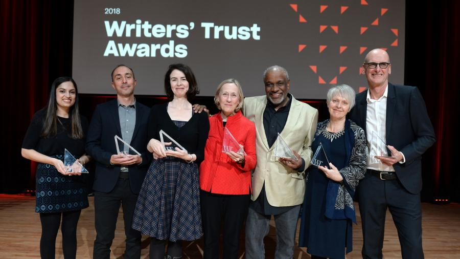 The winners of the 2018 Writers Trust awards