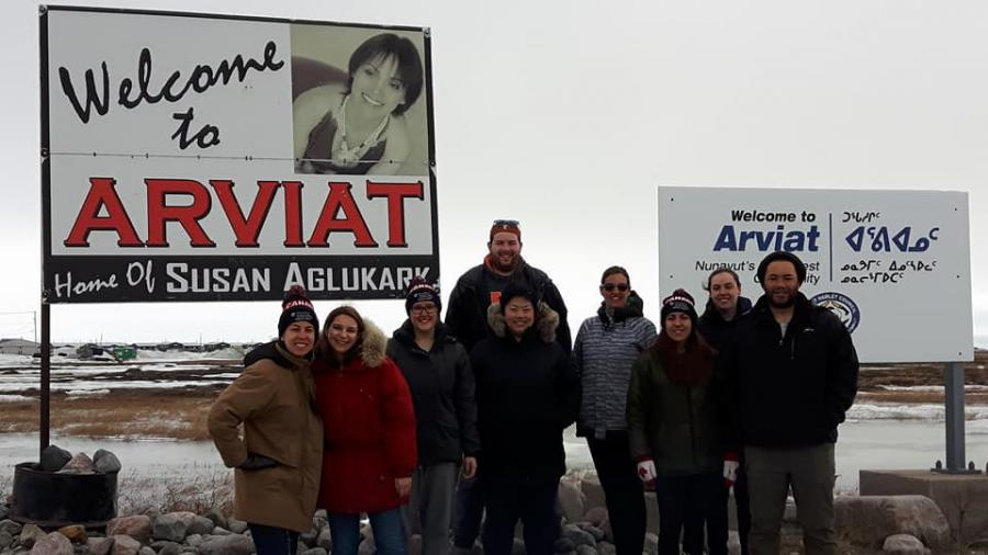 Group of Humber students in Arviat, Nunavut