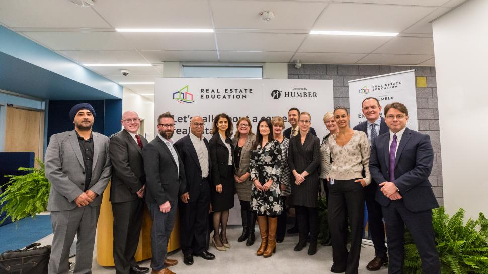Partners celebrate the successful launch of the Real Estate Salesperson program