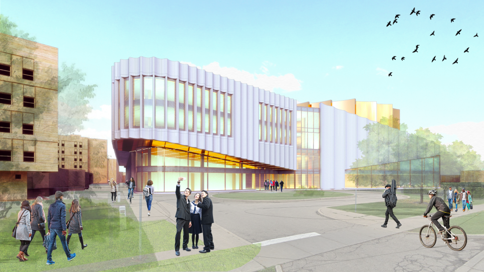 Rendering of the Humber Cultural Hub coming to Lakeshore Campus