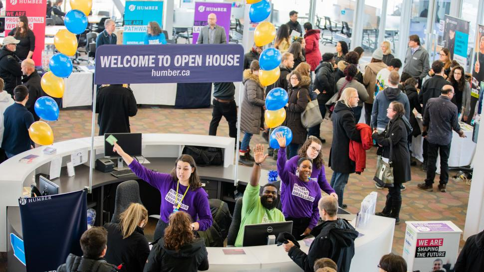 Image of a Humber Open House event