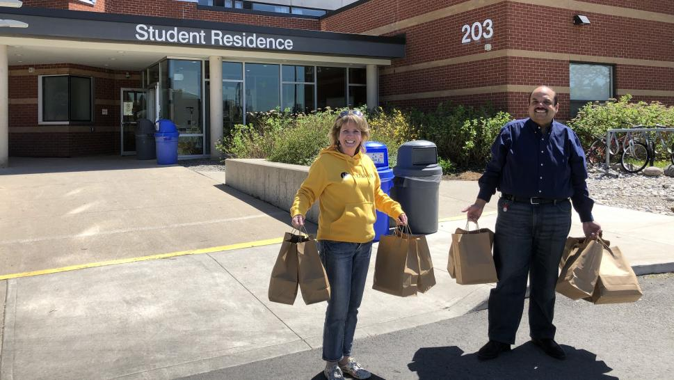 Eastons Group delivers meals to the door of Humber College students in residence
