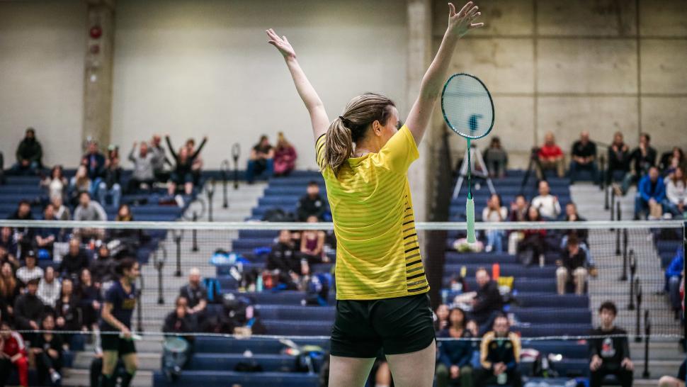 Badminton champion Chloe Rowe