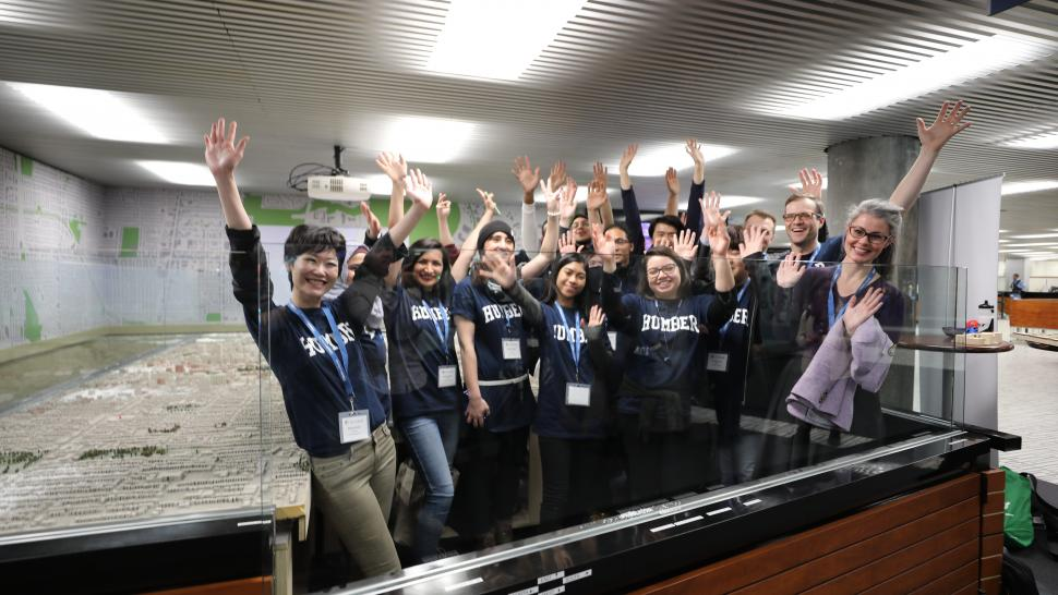 Humber College and the City of Toronto ran a joint Hackathon Thursday