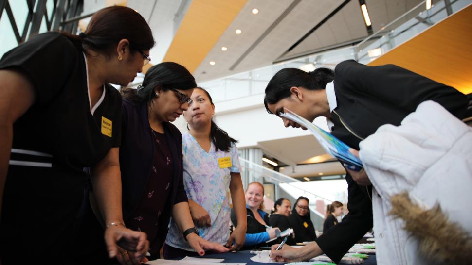 Employers and students met at the Barrett Centre for Technology and Innovation