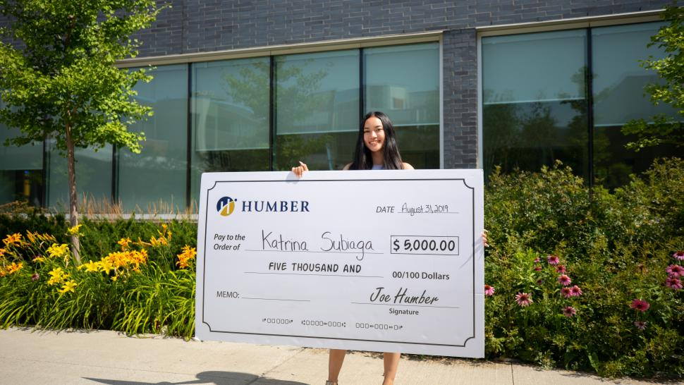 Katrina Subiaga is the winner of the annual $5,000 free tuition contest at Humber