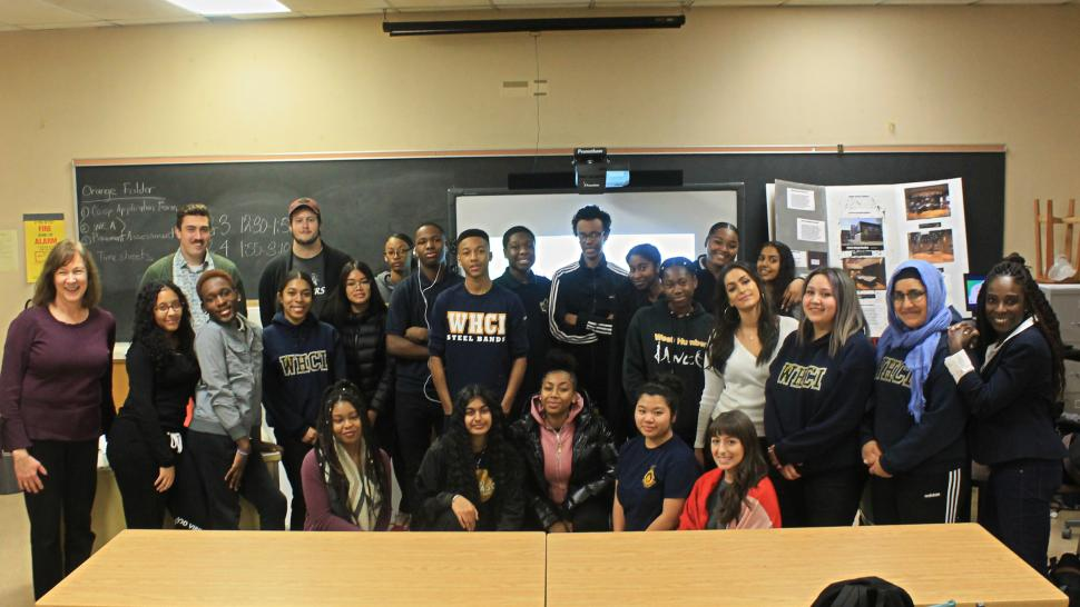 West Humber Collegiate Institute students learn mediation skills from Humber students