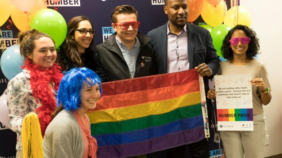 Display Your Pride launch at the LGBTQ+ Resource Centre with the Humber community