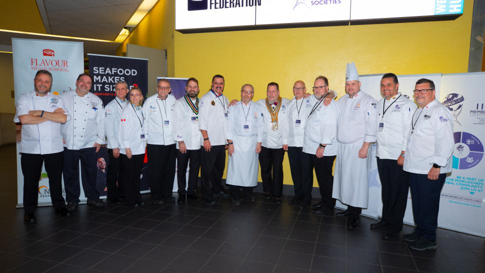 Medal winners of the Worldchefs Global Chef Challenge