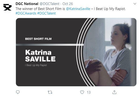 Best Short Film  Katrina Saville - I Beat Up My Rapist