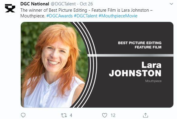 Best Picture Editing – Feature Film  Lara Johnston - Mouthpiece