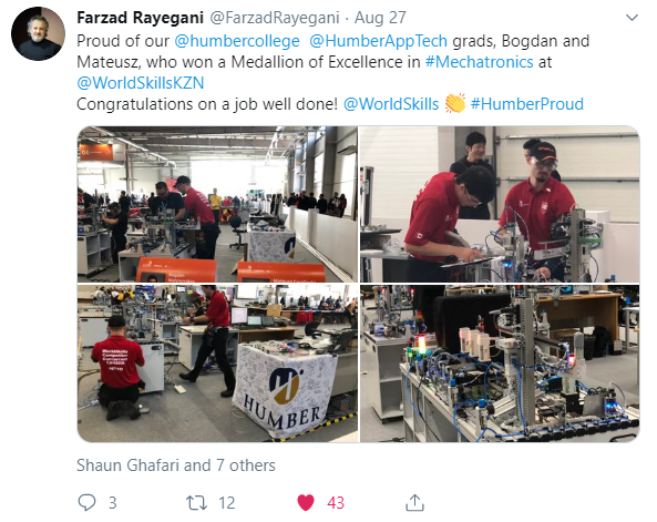 Humber at WorldSkills 2019