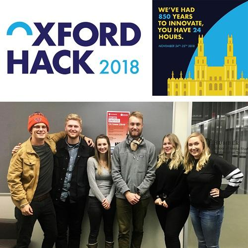 Oxford Hack students who worked on the rebranding