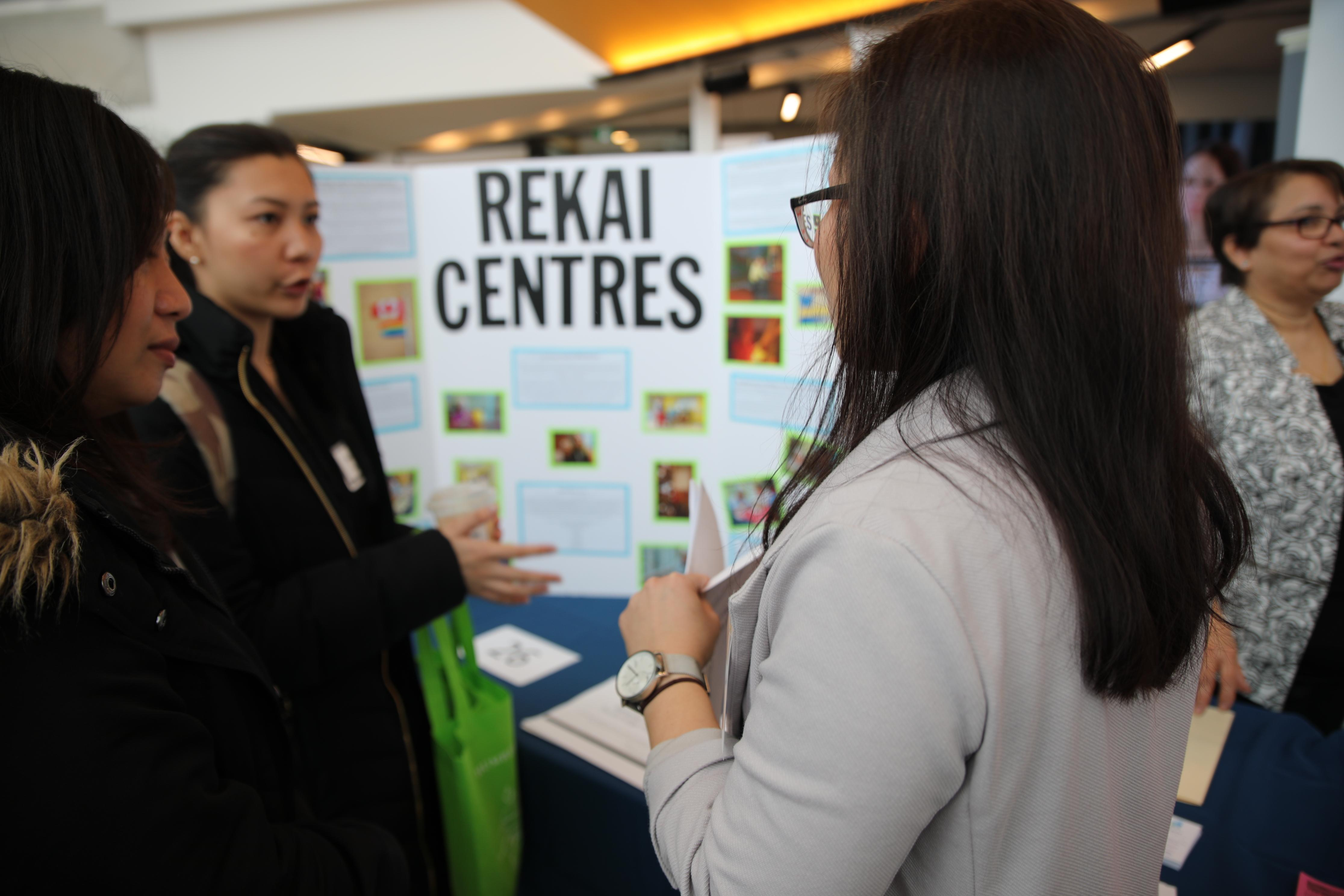 Students learn about Rekai Centres at the long term care and community job fair