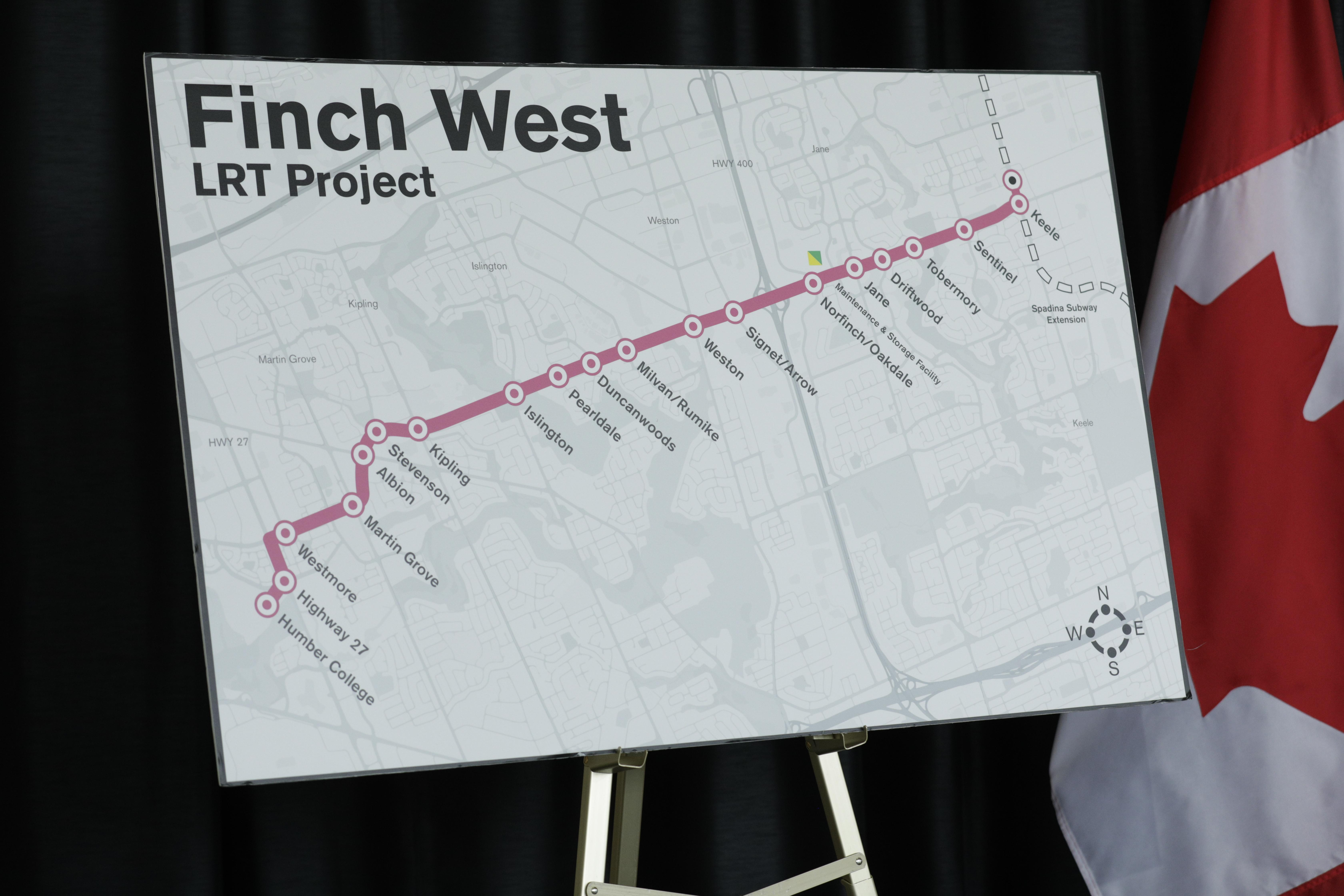 The future Finch LRT line