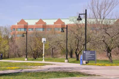 Lakeshore campus in the spring
