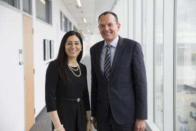 Cisco President Rola Dagher and Humber College President Chris Whitaker
