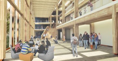 Interior rendering of the Humber Cultural Hub at Lakeshore Campus