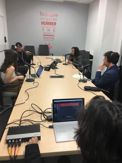 Global Student Voices Podcast recording