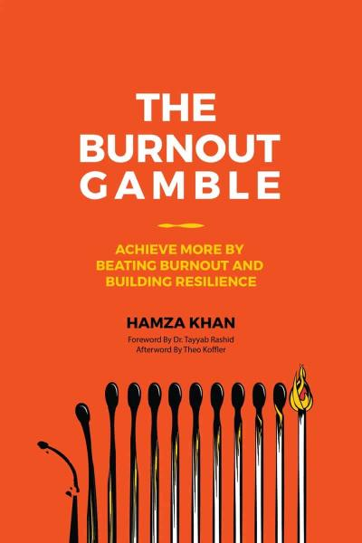 The Burnout Gamble cover is red, titled in white letters. At the bottom of the cover are several matchsticks, each burned out