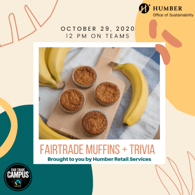 Trivia and muffins Instagram ad showing a picture of bananas and muffins