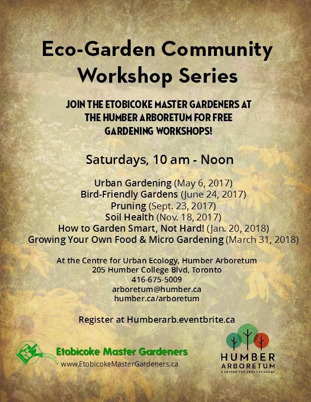 Eco-Garden Community Workshop Series Poster