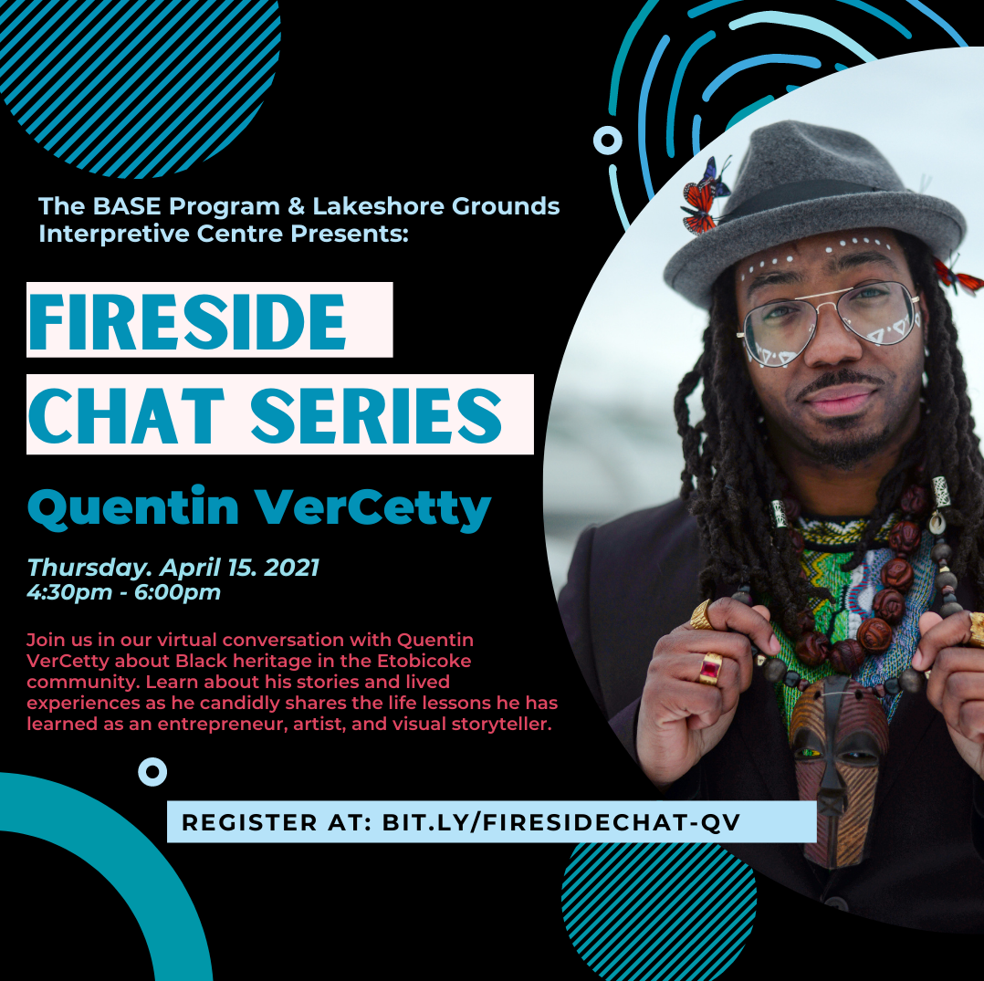 Poster with photograph of a Black man in glasses and grey hat with the event announcement repeated.