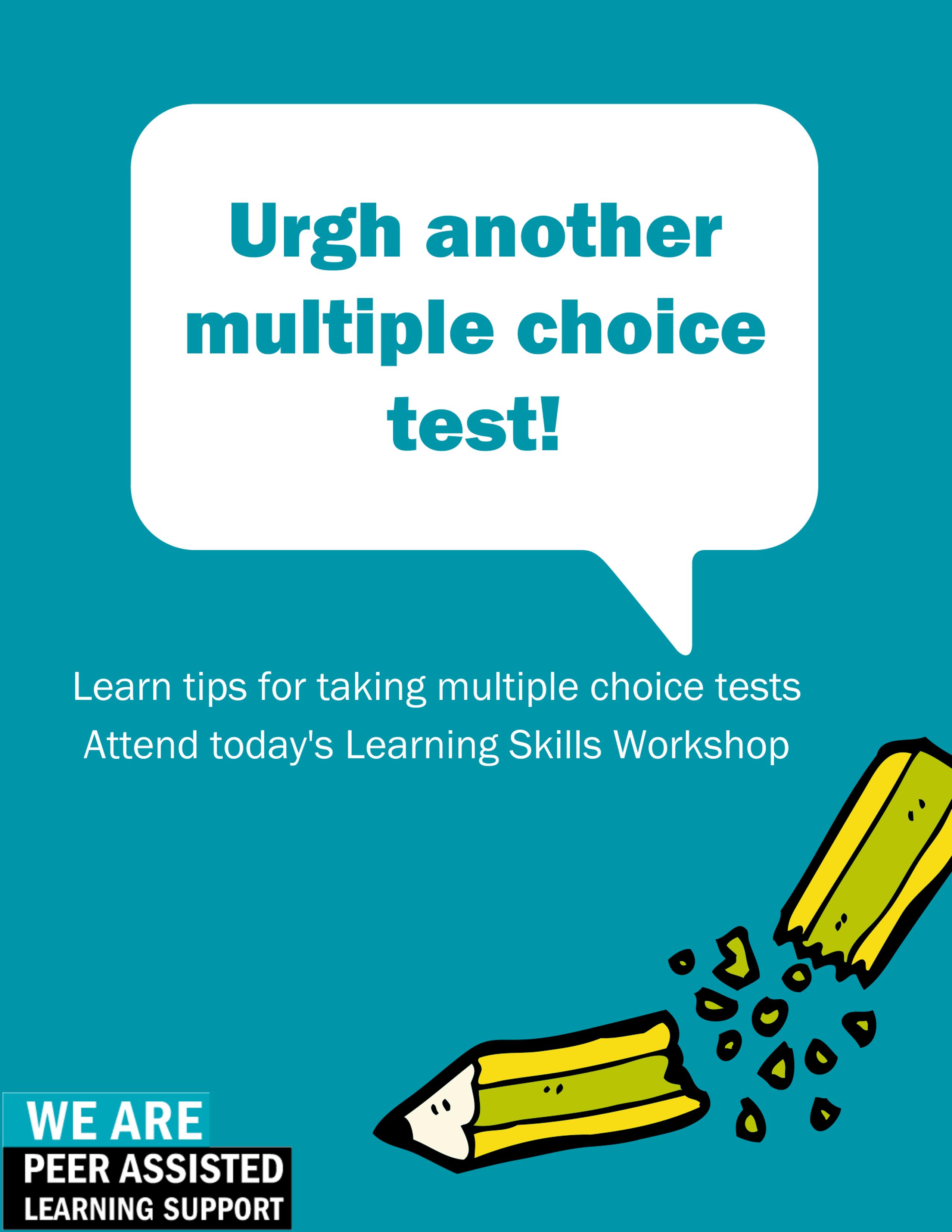 Learning Skills Workshop poster