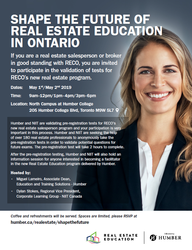 Shape the Future of Real Estate Education in Ontario
